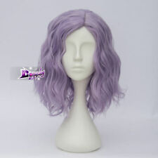 "Lolita Light Purple 14"" Short Curly Lady Celebrity Cosplay Wig Heat Resistant"