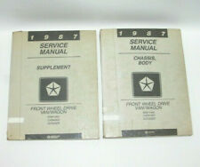 1987 Ram Van Caravan FWD Body Chassis and Supplement Factory Service Manuals C15