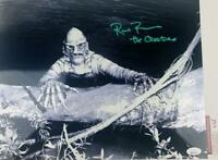 Ricou Browning signed THE CREATURE METALLIC 11X14 photo JSA COA 127