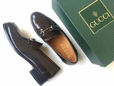 GUCCI Horsebit Brown Leather Vintage Classic Loafers 110-010 Size 9 D RARE!