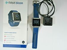Fitbit Blaze Smart Fitness Watch~Large, Blue Band w/SS Frame/Buckle, WAS $199.95