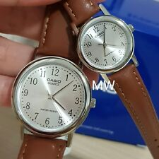CASIO ANALOG LEATHER DRESS COUPLE LOVER PAIR MTP/LTP-1095E-7B NEW CLASSIC