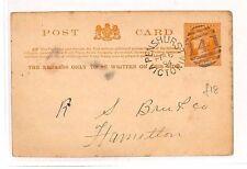 ZZ52 1894 Australian States VICTORIA *Penshurst*Duplex Postal Stationery Wrapper