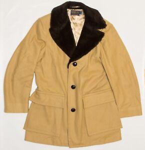 Vintage 1950's Pendelton Women's Satin Lined Fur Collar Leather Jacket Size 40