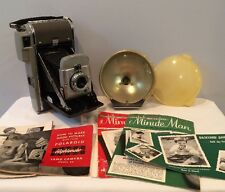Vintage Polaroid Model 80 Land Camera & Model 281 Flash Unit Filter And Papers