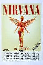 NIRVANA Kurt ORIGINAL flyer mini poster 15 x 20 cm Italy Modena Foo Fighters
