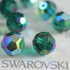 24 pcs Swarovski 5000 faceted 6mm Round Ball Beads Crystal Emerald AB