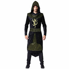Mens Medieval Prince Costume Middle Dark Ages Fancy Dress Outfit