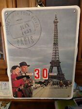 Cavallini Paris Eiffel Tower Perpetual Rotator Calendar1953made inItaly