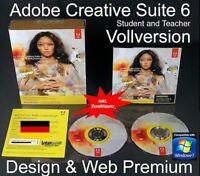 Adobe Creative Suite CS6 Design & Web Premium Win Vollversion Student/Teacher