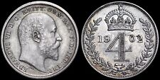 More details for edward vii. matt proof maundy fourpence 4d, 1902.
