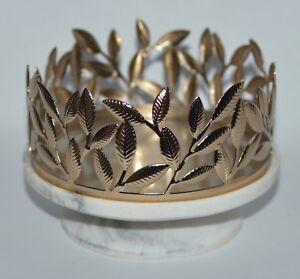 Bath & Body Works Marmor Gold Blätter Groß 3 Docht Kerzenständer Ärmel 429ml