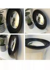 Convex Black Round Mirror Victorian Style Stunning