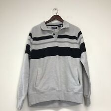 Vintage 90s Chaps Ralph Lauren Long Sleeve Rugby Striped Polo Size L