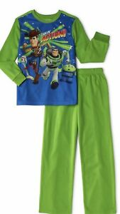 NWT Boys Disney TOY STORY 4 Flannel Size 4 5 Pajamas Pjs 2 Pc Buzz Forky Woody
