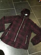 Nike Sportswear checked zipped hooded Jacket Sz Medium Black burgund windrunner
