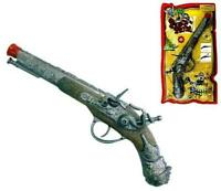 BUY 1 GET 1 FREE METAL DIECAST PIRATE STYLE HAND PISTOL cap gun vintage boy toy