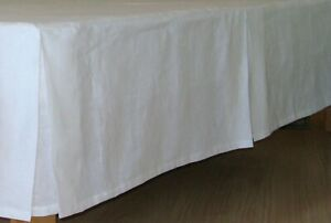 Linen Dust Tailored Bed Skirt. Twin Full Queen King 100% European Flax