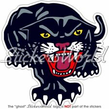 "BLACK PANTHER Cat Leopard, Jaguar, Vinyl Bumper Sticker Decal 100mm(4"")"