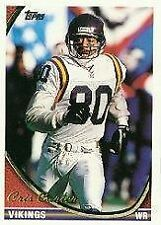Topps Cris Carter Minnesota Vikings Original Football Cards