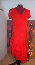 BNWT Ladies MATERNITY Red Frill Detail Dress Size 10