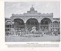 1897 Vittoriano Stampa ~ Royal Matrimonio India Principe ~Elefante~ ( Testo