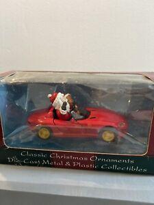 Maisto 1996 Dodge Viper RT/10 Santa Claus Teddy Bear Car Ornament New