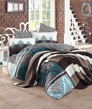 6 tlg Bettwäsche Bettgarnitur Bettbezug 100% Baumwolle Kissen 220x240 cm RAPS BL