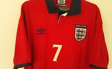 RARE NWT Authentic Umbro 2000 England Beckham Jersey Manchester united medium