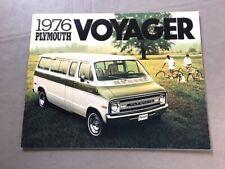 1976 Plymouth Voyager Van Original Sales Brochure Catalog