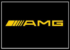 2x Mercedes AMG Schriftzug gelb 100 x 10 mm Aufkleber Sticker