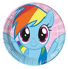 MY LITTLE PONY PACK OF 8 PARTY PLATES 22CM DIAMETER NEW GIFT