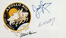 APOLLO 13 - JAMES LOVELL / KEN MATTINGLY / FRED W HAISE Signed Photo - Preprint