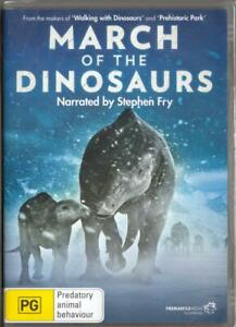 MARCH OF THE DINOSAURS - NEW & SEALED DVD FREE LOCAL POST