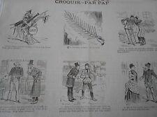 Vignette Caricature 1887 - Le Nouveau Rameau de la Paix