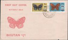 BHUTAN, 1975. First Day Covers (3), Butterflies 173-178