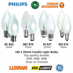 35mm Candle Lamp Dimmable Light Bulb – 25W/40W/60W B22/B15/E27/E14 Clear/Opal
