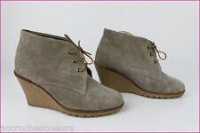 Stivali con lacci Tacco A Zeppa CAVO Camoscio Mastic T 36 ottima qualità
