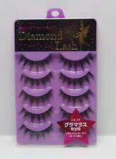 "Diamond Lash False Eyelashes 5 Pairs Lady Glamorous Series ""Glamorous eye"" Japan"