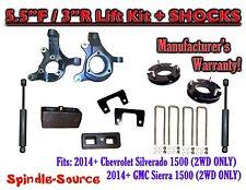 "2014+  Chevrolet Silverado GMC Sierra 1500  5.5"" / 3"" Spindle LIFT KIT + SHOCKS"