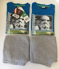 BOYS PYJAMAS 2 PAIR SET AGE 7/8 STORMTROOPERS NEW WITH TAGS STAR WARS
