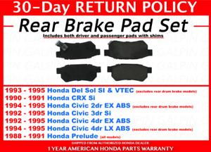 AEM Performance Front Brake Pads Fits 1988-2000 Honda Civic CRX EF EG EK