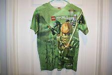 LEGO NINJAGO Green T-shirt with Ninja Graphic  Boys Size 14/16 (XL) X-Large EUC