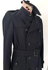 1295 nuovo senza etichetta Burberry da uomo Kensington Trench. 44 UK 34  Media Lunghezza Blu Navy Scuro 7d8ee9f3364