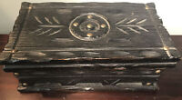 Old Vtg LOBECO WOOD TREASURE CHEST DRESSER TRINKET BOX HANDCRAFTED SPAIN