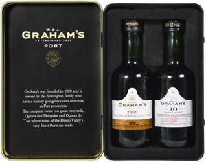 Vintage Marque W. & J. Graham's Port Tin 2 x 5c