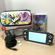 Nintendo Switch Lite Bundle - In Grey Black With Extras & Game
