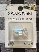 Swarovski Key Pendant 6919 Crystal Blue Shade  30 mm