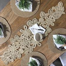 Natural Jute Table Runner/Handmade/Trivet/Table Runner/Hampton's Coastal/Kitchen