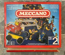 MECCANO Motorised Set 2 Boxed near complete (French production version)